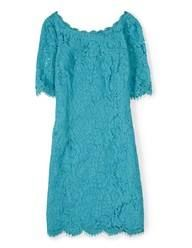 Lace Tunic Dress (Capri Blue)