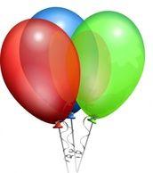 red cross recreation party balloons festive sheild  Party Helium Balloons clip art