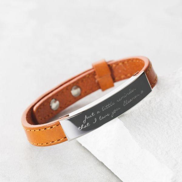 Personalised Men's Adjustable Message Bracelet