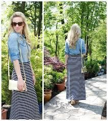 Image result for primark blue and white striped maxi skirt