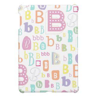 Monogram alphabet letter B iPad Mini Cases