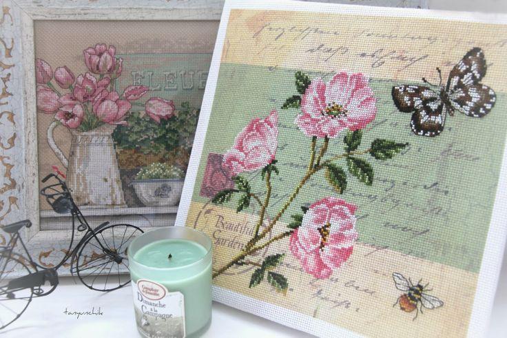 Я раскрашиваю будни крестиками: Почтовая открытка - Шиповник (РТО)