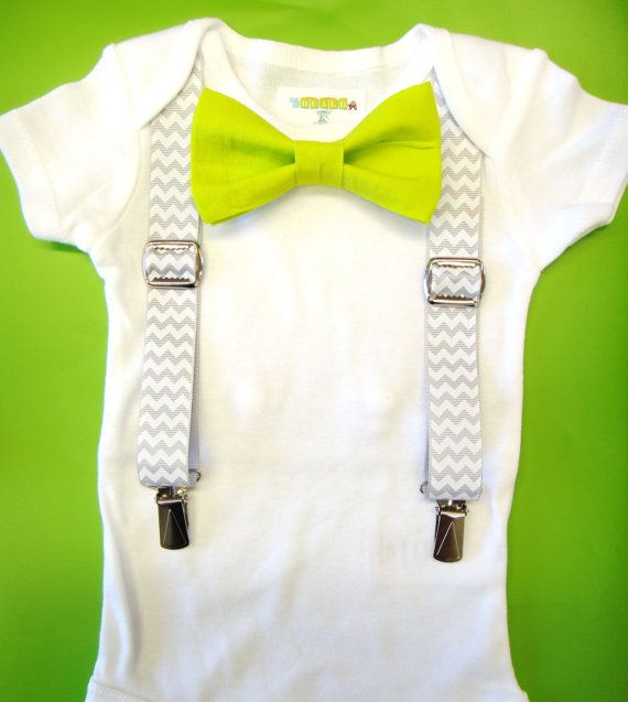 Baby Chevron Suspenders  Baby Suspenders and Bow by NoahsBoytiques, $4.50