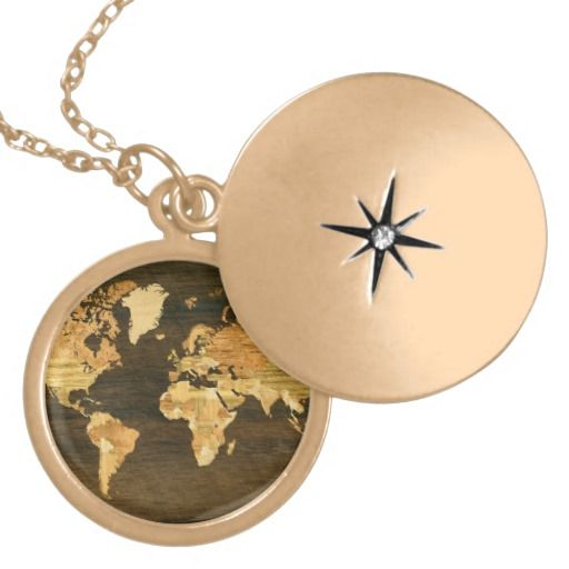 Wooden World Map Necklaces - beautiful!