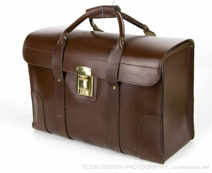 vintage brown leather pilot briefcase lawyer
