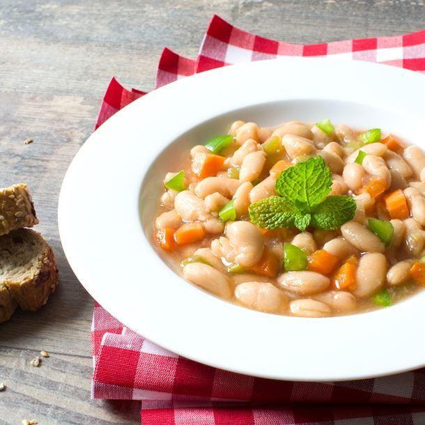 Potage aux haricots blancs et carotte