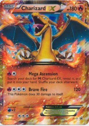 Oversized-Charizard-EX-XY17-Jumbo-Holo-Promo-Pokemon-Card-NM-MT