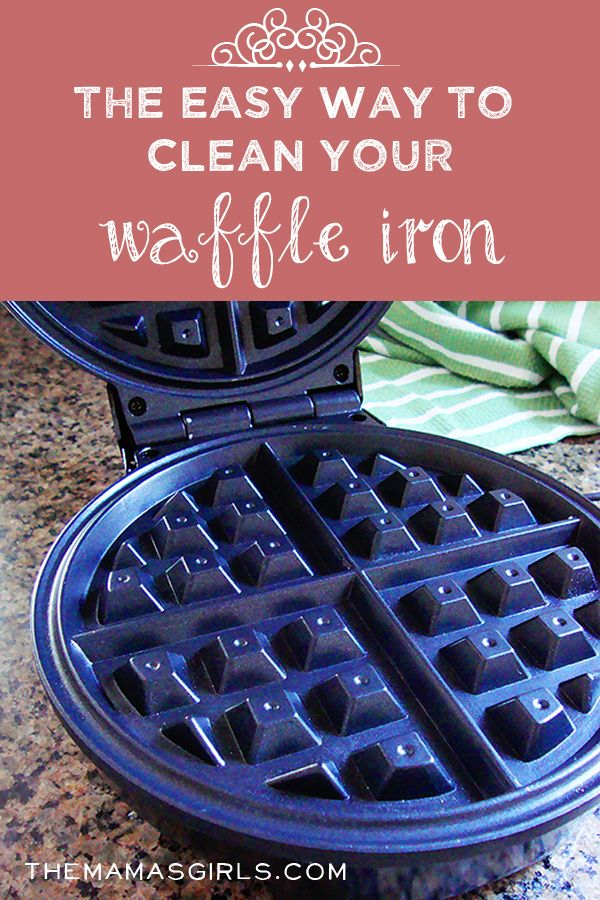 Who knew cleaning the waffle iron could be so easy!