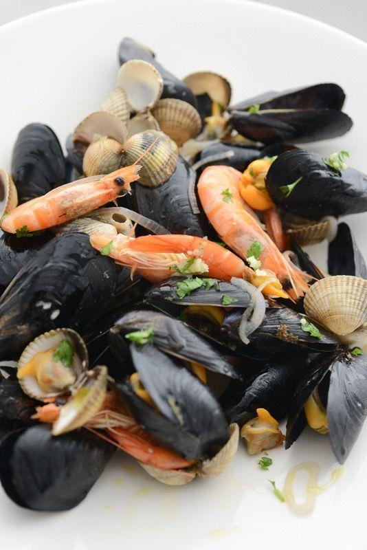 Poêlée de coquillages & crustacés