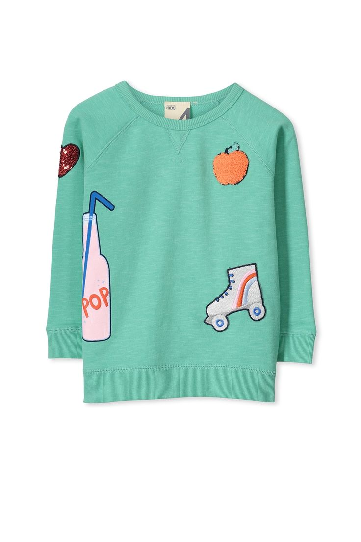 The Sia raglan crew is the easiest way to add fun to any outfit! Pair back with huggies tights or denim for the sweetest little outfit. Feeling the chill? Add our anorak to complete the look and keep your little ones snuggled and warm. <br><br>  • Crew neck <br> • Long sleeve <br>  • Cute printed details <br><br>