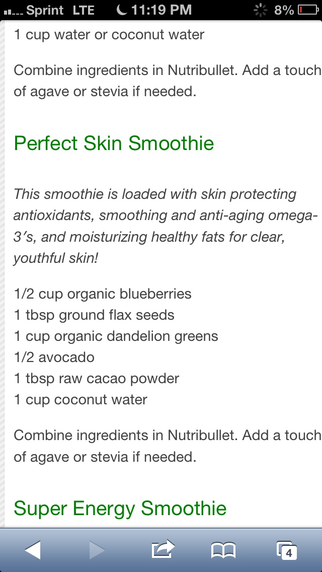 Clear skin nutribullet recipe
