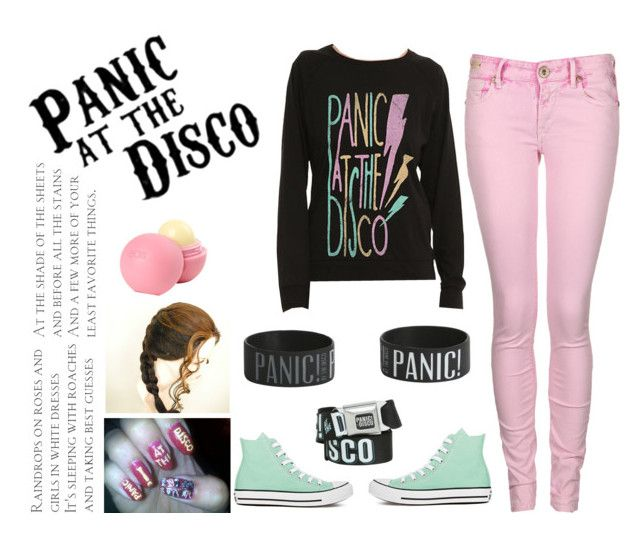 """""""Panic!At the disco outfit"""" by mikaela-madrid ❤ liked on Polyvore featuring Converse, Replay, dELiA*s, Panic and patd"""