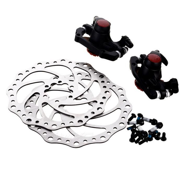 Avid BB5 Aluminum Alloy Mountain Road Bike Bicycle Disc Brakes and Rotors Kit (Front + Rear)