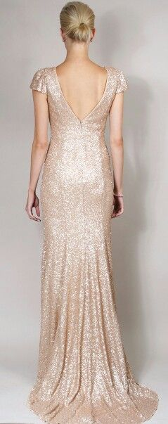 Sequin bridesmaid dress..