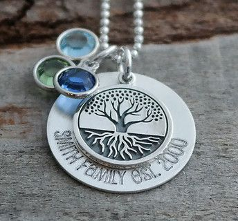 Rooted Tree of Life Personalized Necklace - Engraved Gift