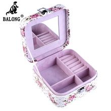 Square Shape Rhinestone Jewelry Storage Box Bracelet Necklace Earring Display Box Fashion Portable Jewellery Organizer Container(China (Mainland))