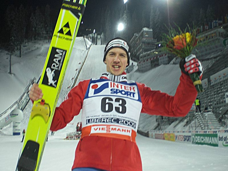 A famous person from Switzerland is Simon ammann he is a gold medalist in the Olympics.
