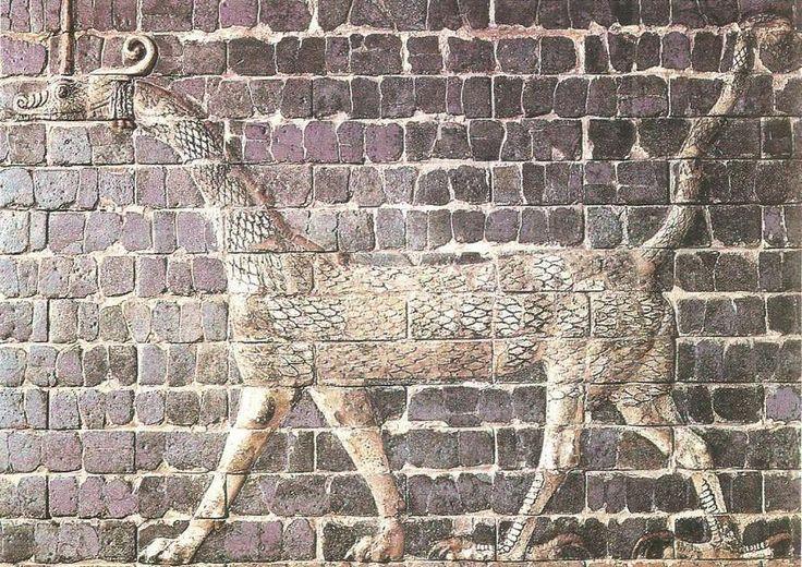 Декор ворот богини Иштар. Изразцы. Вавилон. Начало IV в. до н.э.