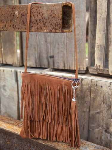 Buffalo Double Fringe Purse. Also available in black! #leather #Canada #handmade #Rockwood #Ontario #like #daily #fashion #hidesinhand