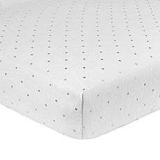 image of Just Born® Sparkle Fitted Crib Sheet