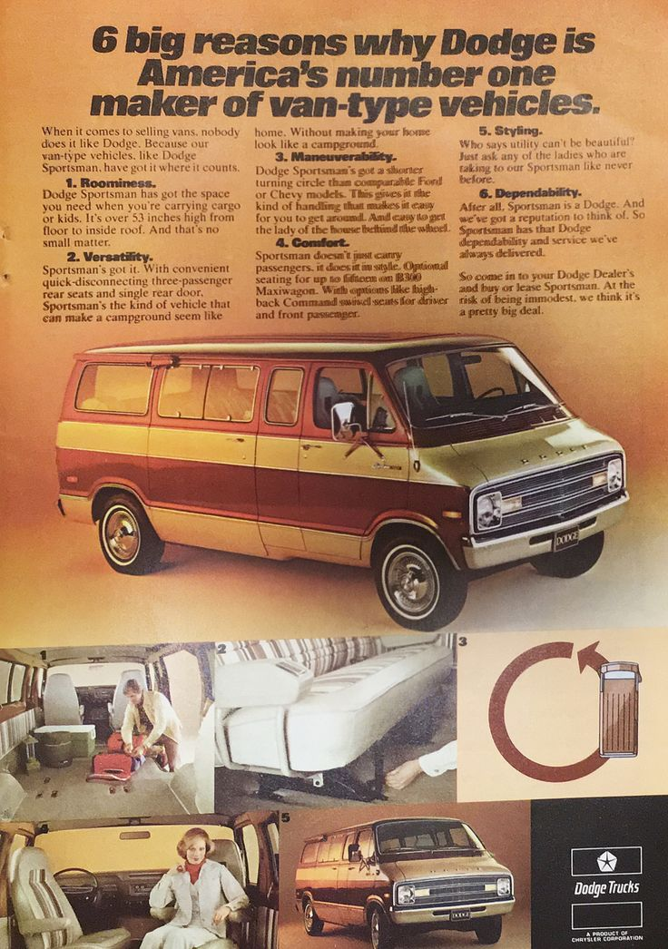 1977 Dodge Van Ad from National Geographic