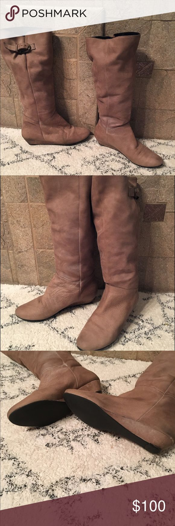 Steve Madden,grey, Intyce riding boots, size 7 Just in time for fall! Like new Steven by Steve Madden, grey, Intyce riding boots, size 7. These are 100% (super soft) leather. They were a little big on me and I wore these maybe 2 time. This color is not currently available through Steve Madden! Steven by Steve Madden Shoes Winter & Rain Boots