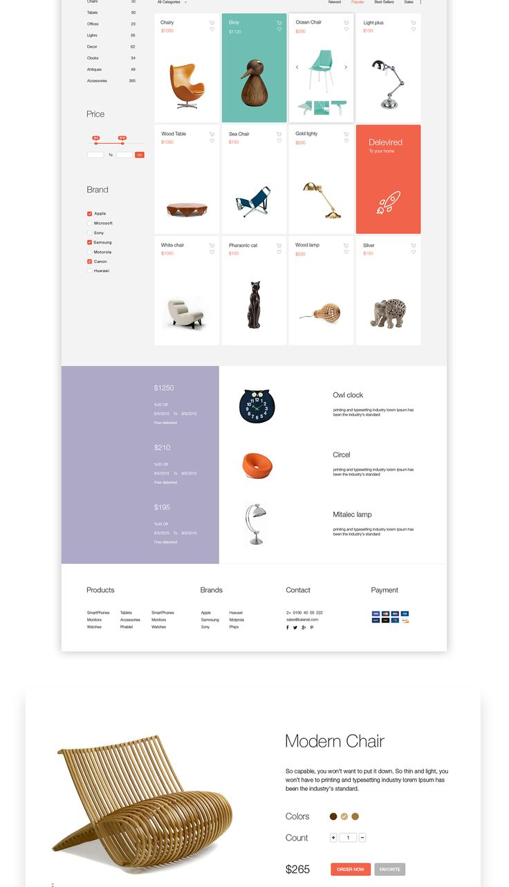 Market is an elegant online store solution on Web Design Served
