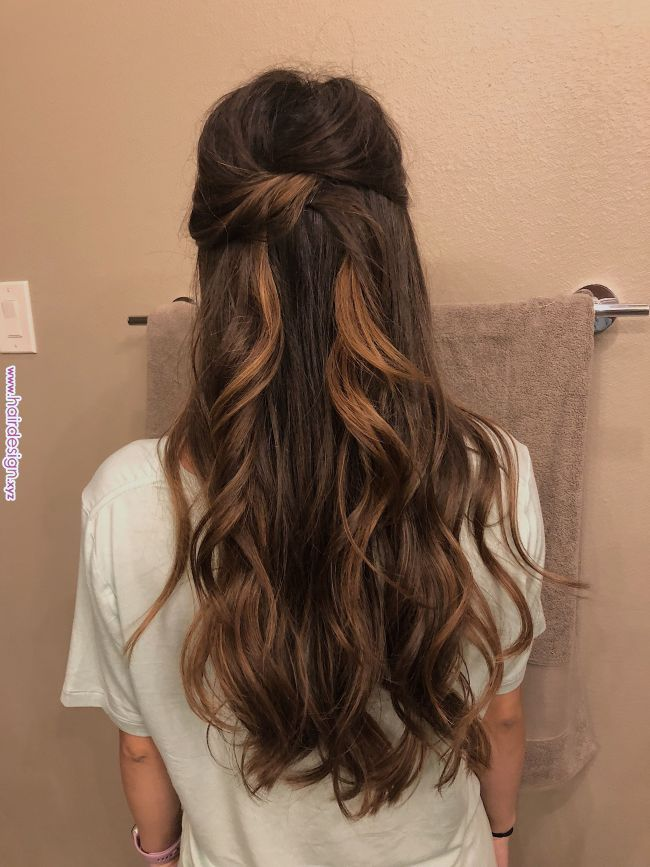 Half Up Half Down Prom Wedding Hair Style Wedding Hair Down Down Hairstyles Elegant Wedding Hair