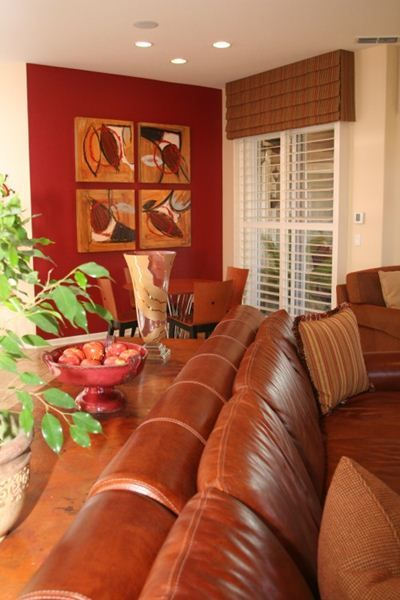 Reds, Oranges and Browns at Home