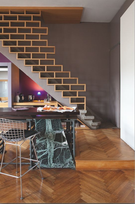 21 best wenge graphite doors images on pinterest - Staircases with integrated bookshelves ...