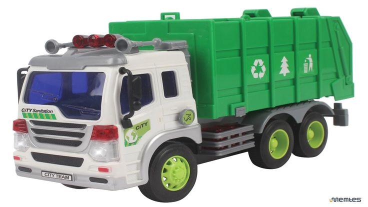 Camion della spazzatura cartoni ✓ Camion giocattolo per bambini: Gru, Es...
