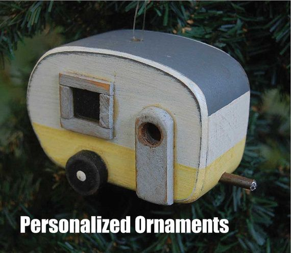 These trailer ornaments - bird house ornaments are so cute by birdhouse20