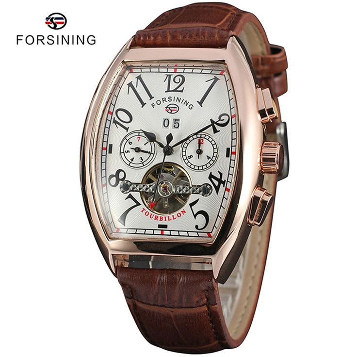 Find More Mechanical Watches Information about 6 Colors FORSINING Brand Top Luxury Men Tourbillon Automatic Watch Mens Leather Tonneau Skeleton Mechanical Watches montre homme,High Quality watch mechanical,China watch cctv cameras online Suppliers, Cheap watch android from YIKOO Watches Store on Aliexpress.com