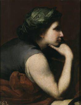 José de Ribera, half-length figure of woman (fragment)