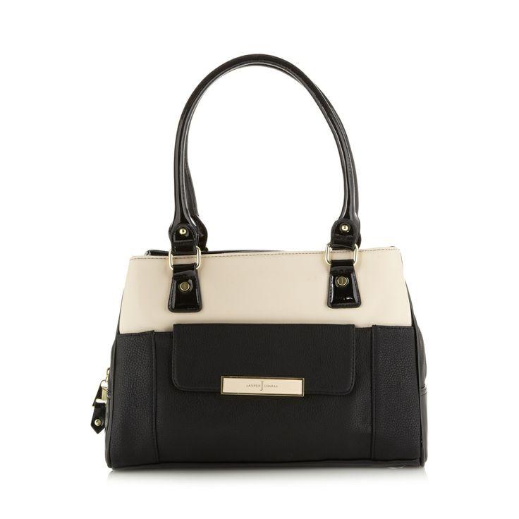 J by Jasper Conran Designer black enamel plate shoulder bag- at  Debenhams.com