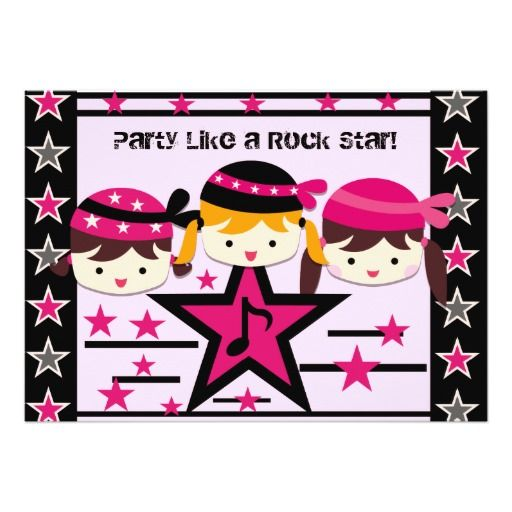 customized party like a rock star birthday invite - Customized Party Invitations