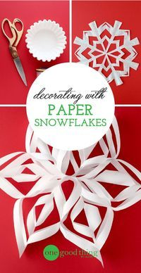 How To Make Paper Snowflakes – 2 Different Ways