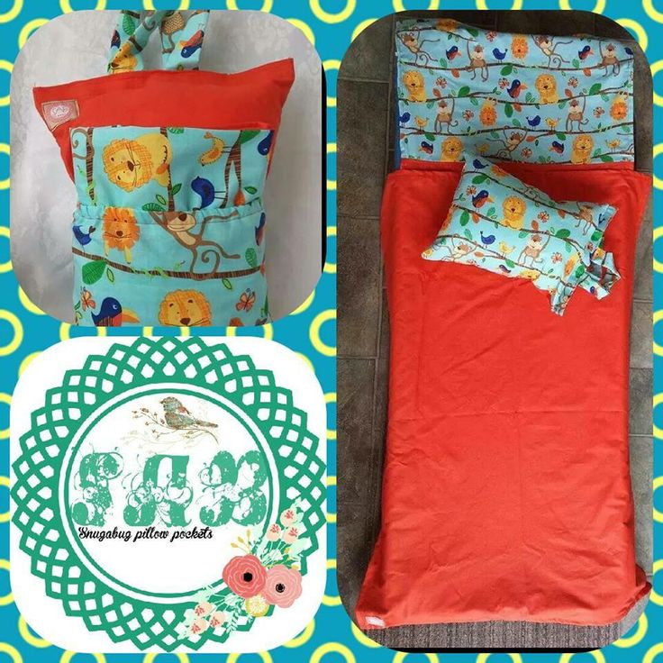 Handmade by Snugabug Pillow Pockets Kindy/daycare bed pillow and sheet sets.
