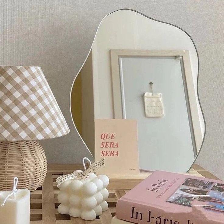 Nordic Mirror Acrylic Irregular Makeup Tabletop Mirror | Etsy