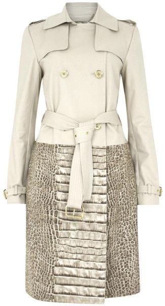 Love this: Stone Crocodile Print Trench Coat @Lyst michael kors