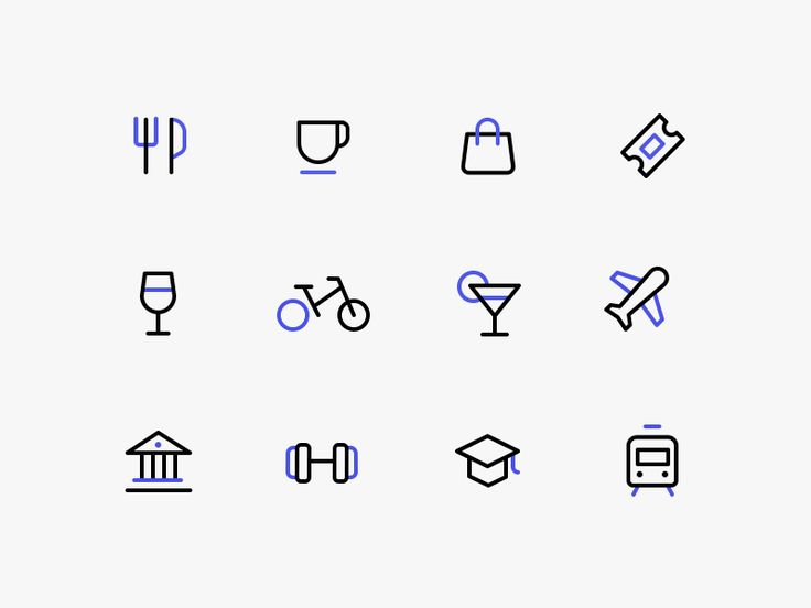 Points of interest icons