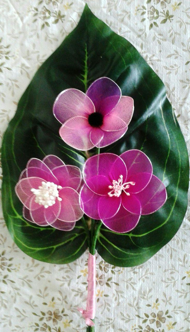 Harisnyavirág-nylon flower Első csokrom-my first bouquet