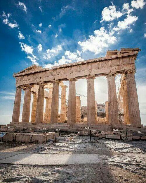 El Partenón en la Acrópolis.
