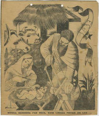 Desenho de Almada Negreiros (em Diário de Lisboa, nº 3993, 24 de Dezembro de 1933, pg. 1).