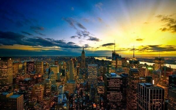 Un atardecer en el skyline de New York