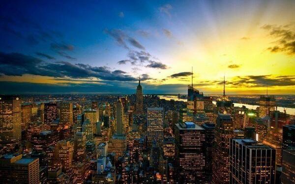 Un atardecer en el skyline de New York