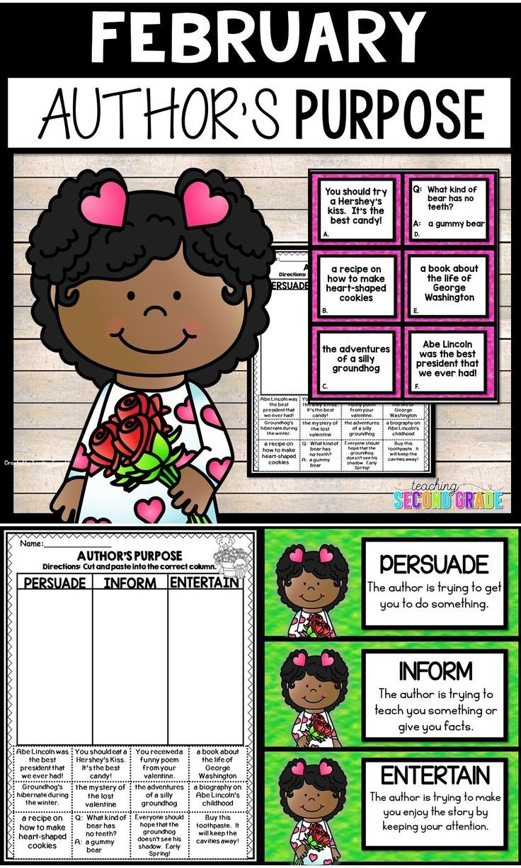 Author S Purpose Worksheets For February Use This 9 Page Resource To Help Your 1st 2nd Authors Purpose Author S Purpose Worksheet Reading Graphic Organizers