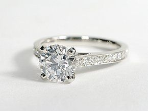 Cathedral Pavé Diamond Engagement Ring in Platinum #BlueNile Looks like my ring :)