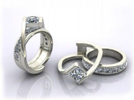 Nice Custom Interlocking Wedding Ring And Engagement Ring !! OMG!!! How Amazing! Home Design Ideas