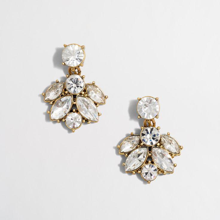 Factory crystal cluster drop earrings : Earrings | J.Crew Factory